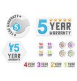Set of warranty stickers vector image vector image