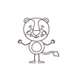 sketch contour caricature of cute tiger without vector image vector image
