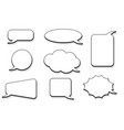 speech bubbles outline icons vector image