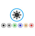 sun light rounded icon vector image