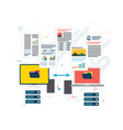 transfer data between computer and laptop backup vector image vector image