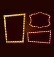 vintage 3d light retro frames vector image vector image