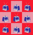 vintage television pattern seamless texture vector image vector image