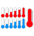 thermometer blue and red scale vector image