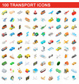 100 transport icons set isometric 3d style