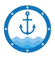 anchor porthole vector image vector image