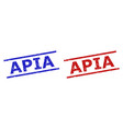 apia watermarks with scratched surface and vector image vector image