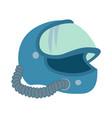 astronaut flat helmet space sign logo vector image vector image
