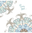 Background for text with floral ornament vector image vector image