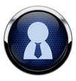 Blue honeycomb people icon vector image
