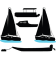 boat and yacht vector image vector image