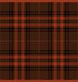 brown and orange tartan plaid scottish pattern vector image vector image