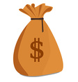 Brown money sack vector image