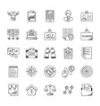Business doodle icons set