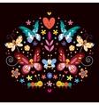 butterflies flowers nature vector image vector image