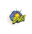 cartoon comic book sound cloud bang blast vector image vector image