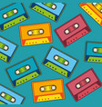 cassette music retro pop art pattern vector image