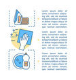 cleaning service concept linear vector image
