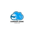 cloud deal and repair logo design element vector image vector image