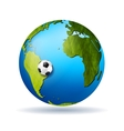 Concept soccer background vector image