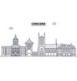 concord united states outline travel skyline vector image vector image