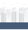 construction skyline background vector image vector image