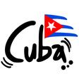 Cuba symbol vector image