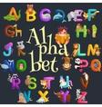 Cute cartoon animals alphabet for children vector image vector image