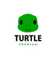 cute turtle flat logo icon vector image
