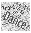 Dance to Your Health Word Cloud Concept vector image vector image