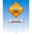 Danger skull traffic vector image vector image