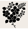 decorative flowers vector image vector image