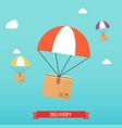 delivery concept service business set flat vector image