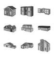 design architecture and estate logo vector image vector image