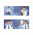 doctor doctoral people character vector image vector image