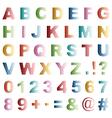 dot alphabet vector image vector image