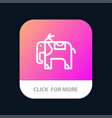 elephant animal mobile app button android and ios vector image vector image
