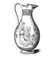 engraved greek pitcher used in elaborate vector image vector image