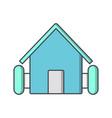 farm house icon vector image