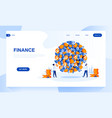 finance landing page template vector image