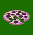 flat shading style icon pizza vector image vector image