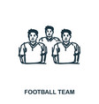 football team icon mobile apps printing and more vector image