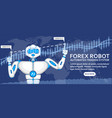 forex robot concept with ai android vector image vector image
