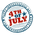 Fourth of July background for Happy Independence vector image