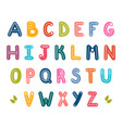 hand drawn english alphabet cute letters with vector image vector image