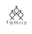 happy family design template vector image vector image
