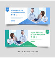 healthcare medical banner promotion template vector image vector image