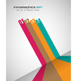 Infographic Design Template with modern flat style vector image vector image