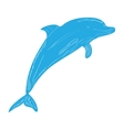Isolated dolphin sketch vector image