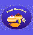 jewish holiday of hanukkah happy hanukkah vector image vector image